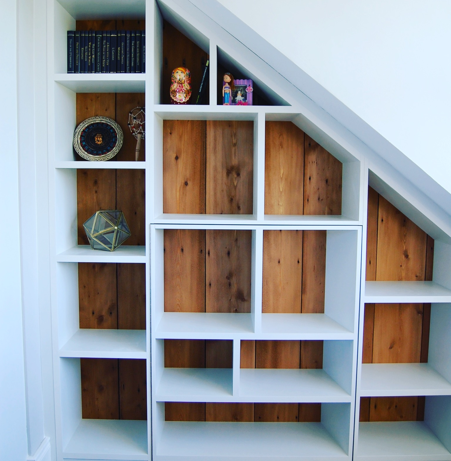 bookcase with pine